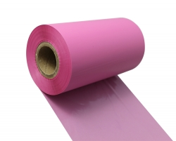 条码打印机印碳带--粉红色水洗专用树脂基