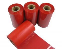 Barcode printer ribbon red wax resin