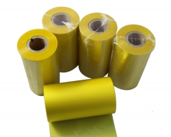 Yellow barcode thermal ribbon wax resin