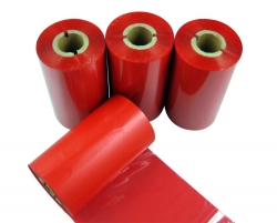 Wax red barcode printer ribbon